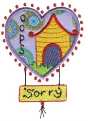 Oops Sorry embroidery design