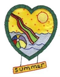 Summer Heart embroidery design