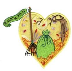Autumn Heart embroidery design