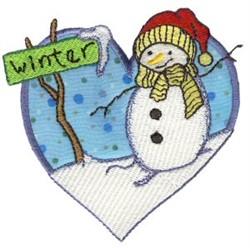 Winter Heart embroidery design
