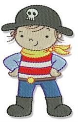 Pirate Kid embroidery design