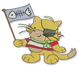 Pirate Cat embroidery design