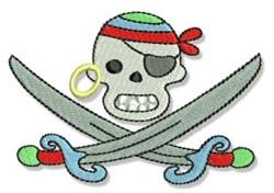 Skull & Crossbones embroidery design