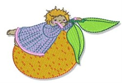 Orange Girl embroidery design