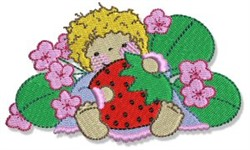 Strawberry Kid embroidery design