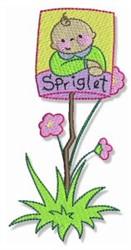 Spriglet embroidery design