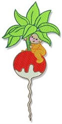 Raddish Kid embroidery design