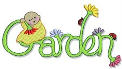 Garden Kid embroidery design
