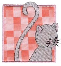 Cat In Block embroidery design
