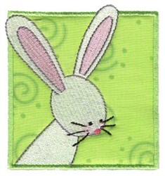 Rabbit In Block embroidery design