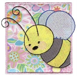 Bee In Block embroidery design