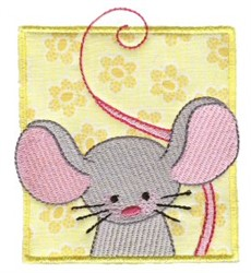 Mouse In Block embroidery design