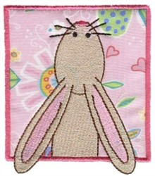 Bunny In Block embroidery design