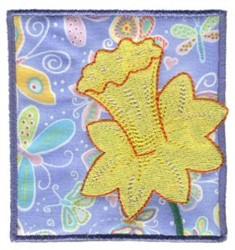 Daffodil In Block embroidery design
