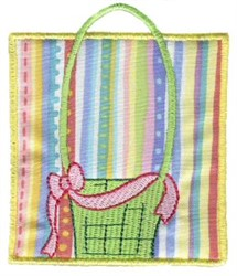 Basket In Block embroidery design