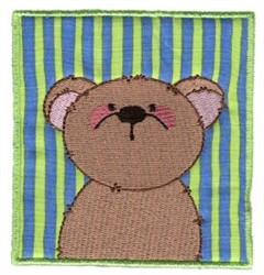 Spring Bear Applique embroidery design