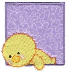 Spring Chick Applique embroidery design