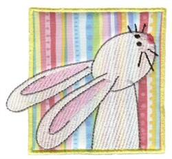 Spring Bunny Applique embroidery design