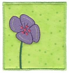 Spring Flower Applique embroidery design