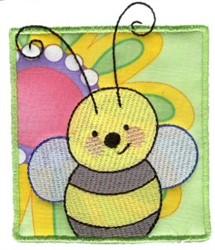Spring Bumblebee Applique embroidery design