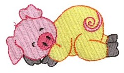 Little Piggy Dreamer embroidery design