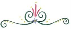 Elegant Swirl Border embroidery design