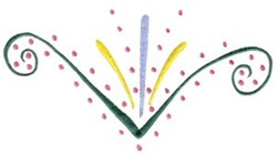 Elegant Swirls & Dots embroidery design