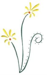 Elegant Swirls & Flowers embroidery design
