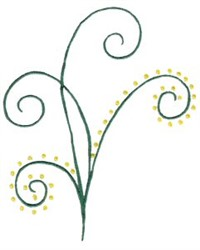 Elegant Swirls With Dots embroidery design