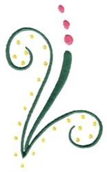 Elegant Swirling Corner embroidery design