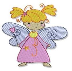 Little Girl Fairy embroidery design