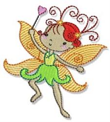 Redhead Fairy embroidery design