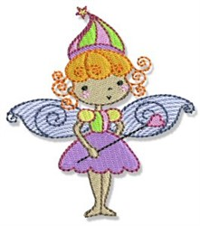 Blonde Fairy Girl embroidery design