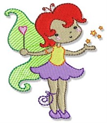 Redheaded Fairy embroidery design