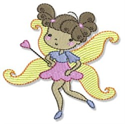 Brunette Fairy embroidery design