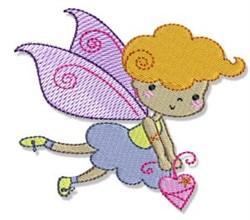 Blonde Fairy embroidery design
