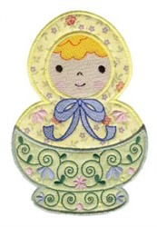 Pretty Russian Doll embroidery design