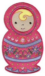 Applique Russian Doll embroidery design