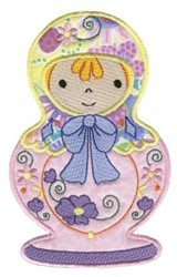 Russian Nesting Doll embroidery design