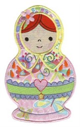 Cute Russian Doll embroidery design