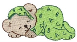 Dreaming Teddy Bear embroidery design