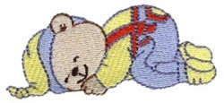 Dreaming Bear embroidery design