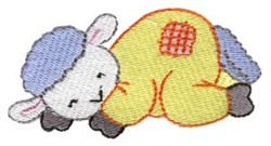 Dreaming Lamb embroidery design