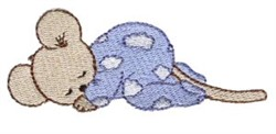 Dreaming Mouse embroidery design