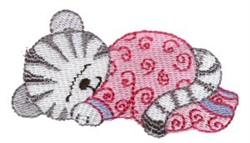 Dreaming Kitten embroidery design