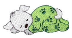 Dreaming Puppy embroidery design