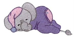 Dreaming Elephant embroidery design