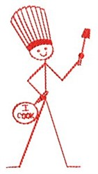 I Cook Chef embroidery design