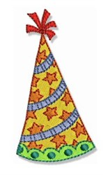 Happy Birthday Party Hat embroidery design