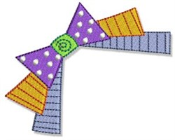 Birthday Ribbon & Bow embroidery design